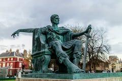 York, Reino Unido - 11/18/2017: Estatua de Constatine el Grea Fotos de archivo