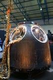 York, Reino Unido - 02/08/2018: Nave espacial do ` s Soyuz de Tim Peake imagens de stock royalty free