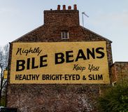 York, Reino Unido - 11/18/2017: A pintura mural famosa dos feijões da bilis mim Foto de Stock Royalty Free