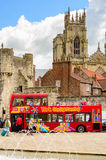 York sightseeing red tour bus Royalty Free Stock Image