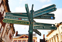 York sign post Royalty Free Stock Photography