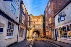 York stadsvägg England UK Arkivfoto