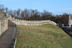York-Stadtmauern, Yorkshire, England Lizenzfreie Stockfotos