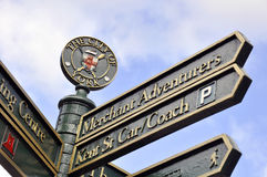 York tourist signpost Royalty Free Stock Images