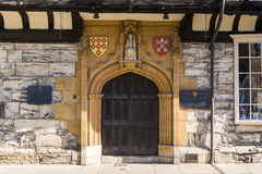 YORK, UK - MARCH 30: Entrance door to Saint William's College, f Stock Photo