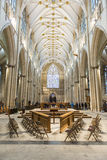 YORK, UK - MARCH 30: The Nave area in York Minster. The cathedra Royalty Free Stock Photography