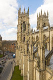 YORK, UK - MARCH 30: Roof of York Minster overlooking city. The Royalty Free Stock Images