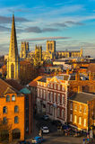 York and York Minster. View of York with York Minster in background Stock Photo