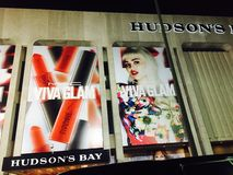 Yorkdale mall. Viva glam late night Miley Cyrus red lipstick Stock Image