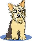 Yorkie cartoon. A cartoon portrait of a yorkshire terrier royalty free illustration