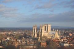 Yorkminster York Angleterre de cathédrale de paysage urbain Photos stock