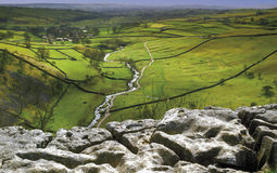 Yorkshire. England yorkshire dales national park limestone pavement malham cove Stock Images