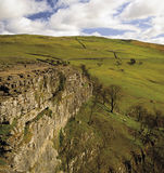 Yorkshire. England yorkshire dales national park limestone pavement malham cove Stock Photography