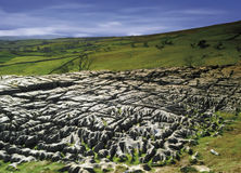 Yorkshire. England yorkshire dales national park limestone pavement malham cove Royalty Free Stock Photos