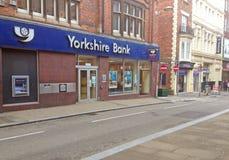Yorkshire Bank entrance. Royalty Free Stock Photo