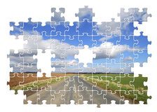 Yorkshire country road jigsaw Stock Photo