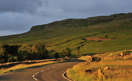 Yorkshire country road, sunset Stock Photography