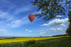 Yorkshire Countryside - Hot Air Balloon Royalty Free Stock Photos