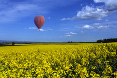 Yorkshire Countryside - Hot Air Balloon Royalty Free Stock Image