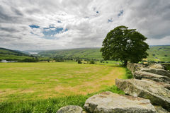 Yorkshire dales. England on a cloudy day stock image