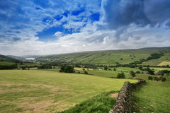 Yorkshire dales. England on a cloudy day stock images