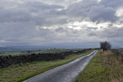 Yorkshire Dales. Countryside road in Yorkshire Dales Royalty Free Stock Image