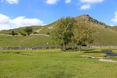 Yorkshire Dales near Gordale Scar. stock images