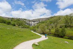 Yorkshire Dales North England Malham Cove in summer Stock Photos