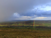 Yorkshire Dales Rainbow Stock Photo