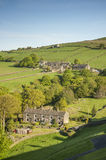 Yorkshire dales summer scene. Overlooking a green Yorkshire Dales valley on a bright summers morning Stock Photography