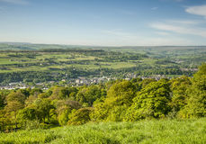 Yorkshire dales summer scene. Overlooking a green Yorkshire Dales valley on a bright summers morning Royalty Free Stock Images