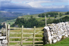 Yorkshire dales. View over  the Yorkshire dales above Settle Royalty Free Stock Photography