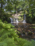 Yorkshire dales waterfall. A beautiful waterfall on the moorland above hebden bridge in calderdale west yorkshire Royalty Free Stock Image