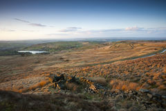Yorkshire dolin jesieni widok Zdjęcia Royalty Free