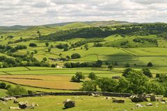 Yorkshire doliny, siano łąki Obrazy Royalty Free