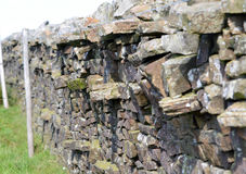 Yorkshire dry stone wall. Yorkshire is famous for its beautiful countryside and dry stone walls, so called because they are simply laid on top of each other with Stock Photo