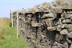 Yorkshire dry stone wall Royalty Free Stock Images