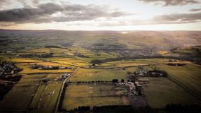 Yorkshire england united kingdom uk landscape. Green fileds country life and green grass royalty free stock photography