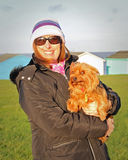 Yorkshire för valpförälskelse terrier Royaltyfri Foto