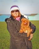 Yorkshire för valpförälskelse terrier Royaltyfria Bilder