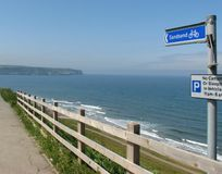 Yorkshire footpath to Sandsend Royalty Free Stock Image