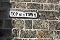 Yorkshire gatatecken fotografering för bildbyråer