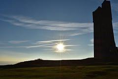 Yorkshire gränsmärke arkivfoto
