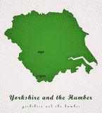 Yorkshire and the Humber Art Map Stock Photo