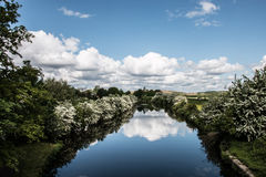 Yorkshire kanal Arkivbilder