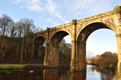 Yorkshire Knaresborough bridge viaduct, Royalty Free Stock Photos