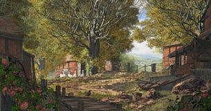 Yorkshire landslantgård vektor illustrationer