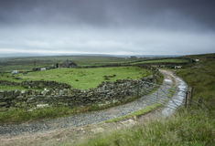 Yorkshire moorland farm in the rain Royalty Free Stock Images