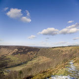 The Yorkshire moors. In north England royalty free stock photo
