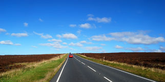 Yorkshire Moors road Royalty Free Stock Photography